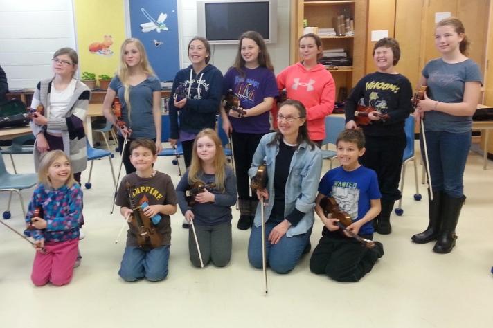 violin class Feb 2015